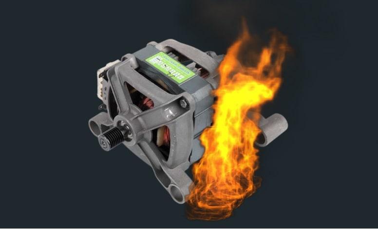 camasir makinesi motorundan duman cikiyor